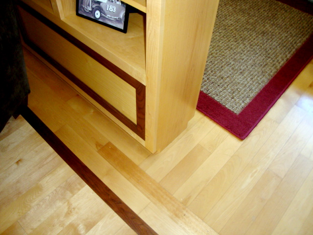 Built-in with floor inlay