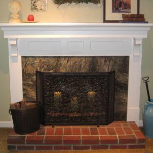Fireplace Mantel: After