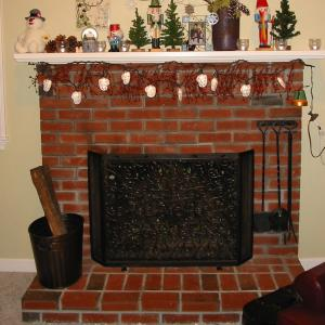 Fireplace Mantel: Before
